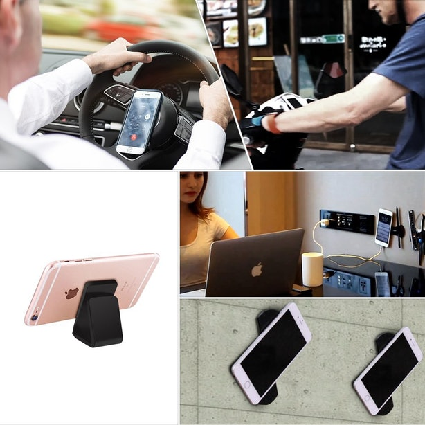 This Sticky Pad So You Can Mount Your Phone Just About Anywhere.