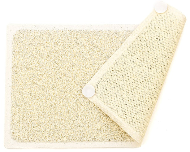This Shower Mat That Lets You Exfoliate Your Feet While You Wash Your Hair .
