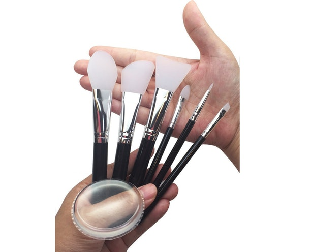 These Silicone Brushes That Don't Absorb Product, So Your Makeup Lasts Way Longer.