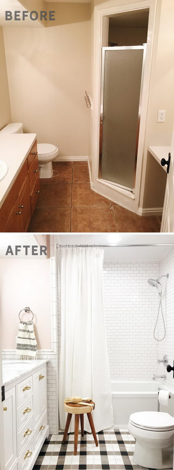 Girls' Bathroom Makeover.