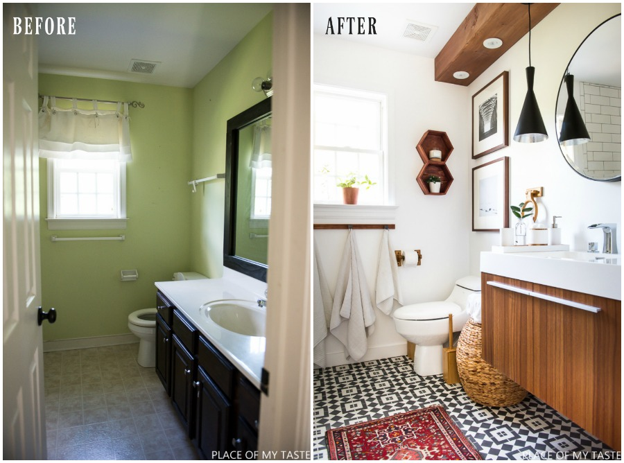 Bathroom Makeover Reveal.