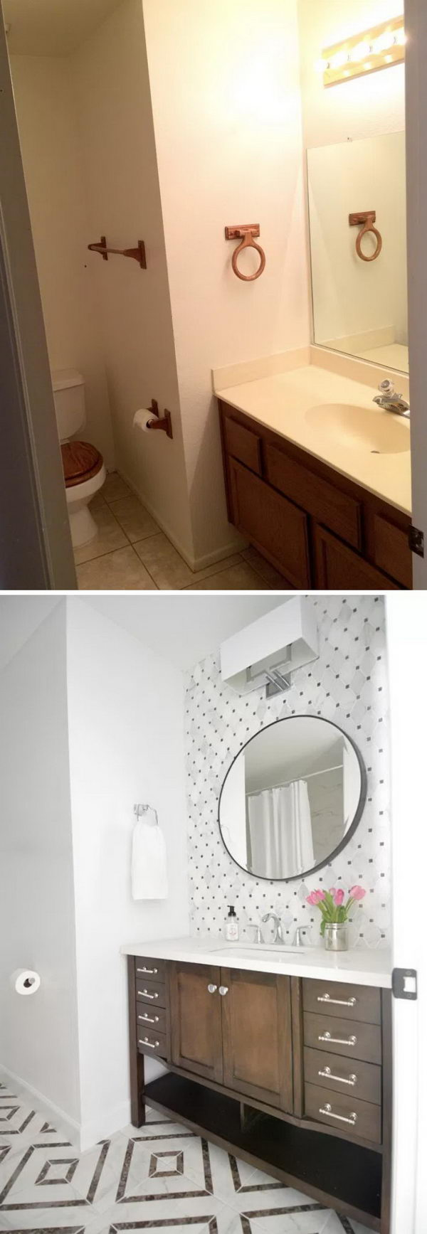 Hall Bathroom Makeover.