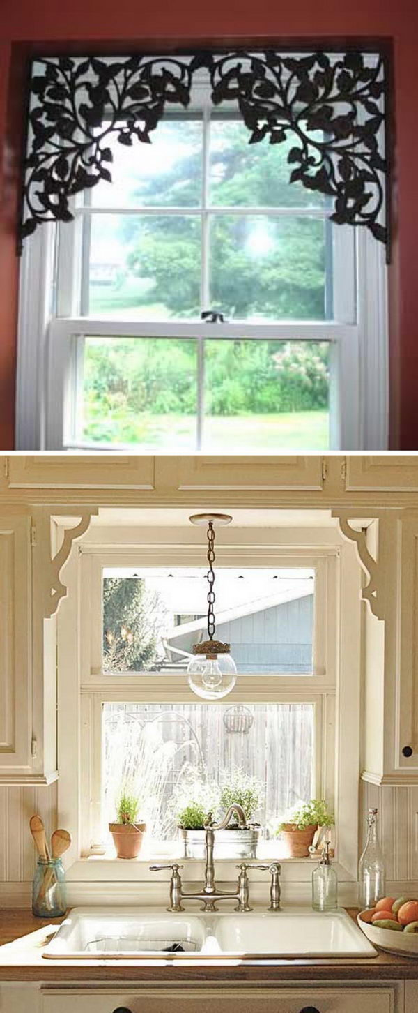Add some shelf brackets to doorways or windows to create architectural interest.