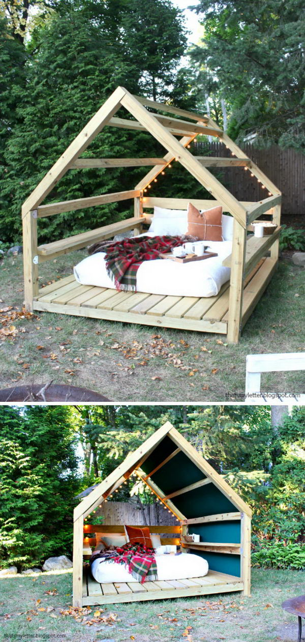 DIY Outdoor Cabana Lounge.