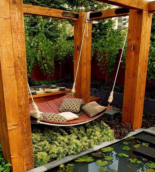 A Backyard Swing Oasis.