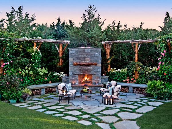 Patio With a Fire Feature.