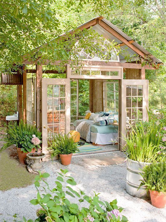 $400 Garden Retreat Made Mostly From Repurposed Materials.