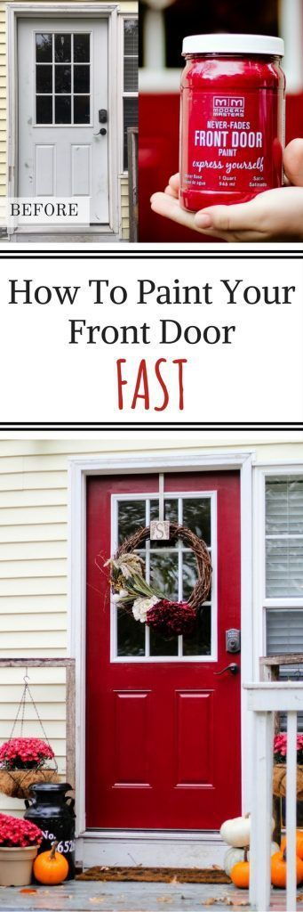 Front Door Makeover Using Modern Master's Front Door Paint.