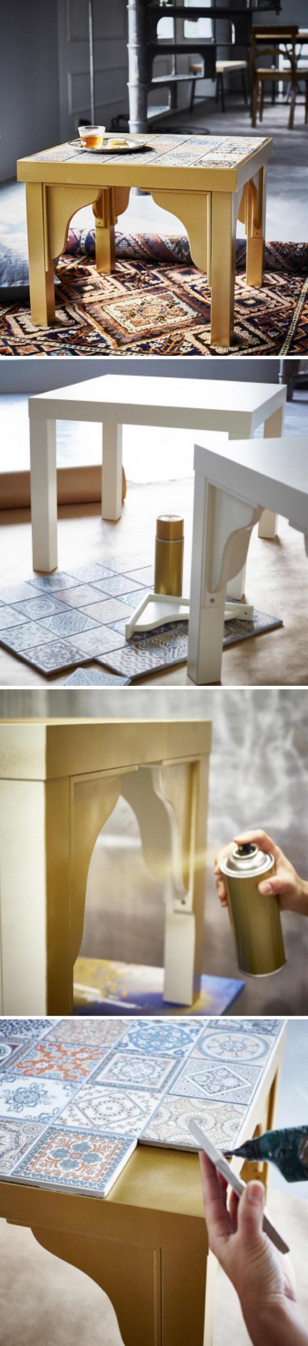 Mosaic Tile Table.