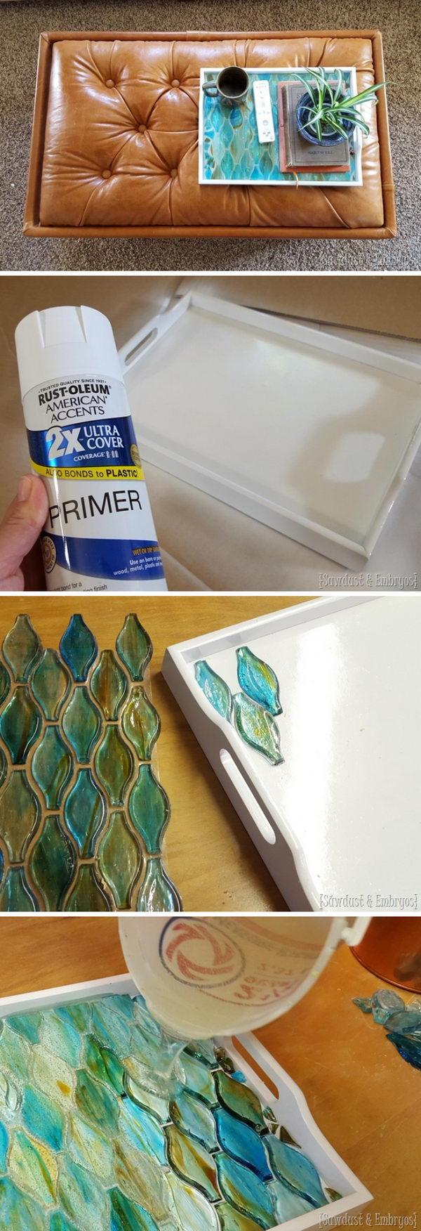 Decorative Mosaic Tray.