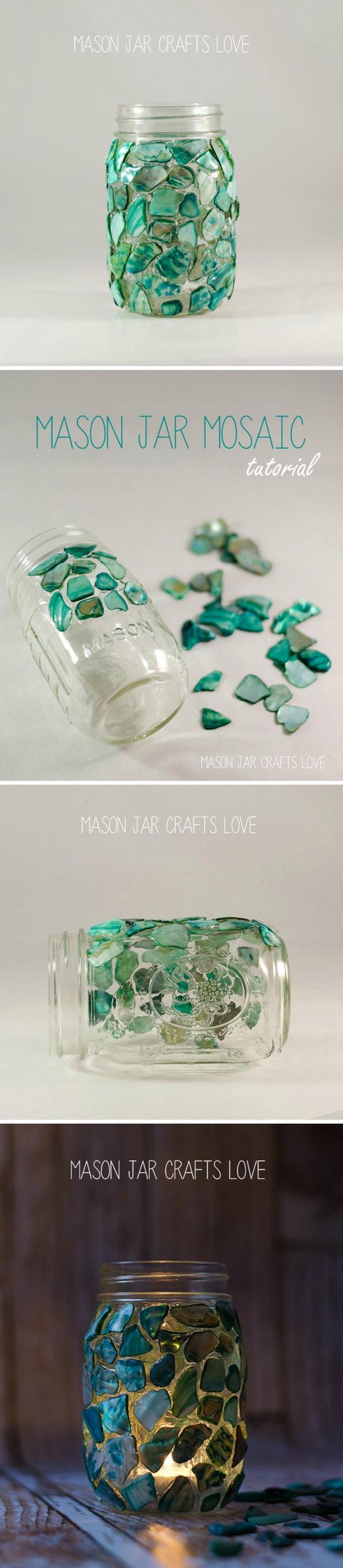 Mason Jar Mosaic.