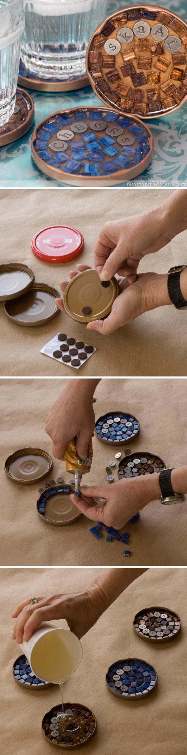 Mosaic Coasters.