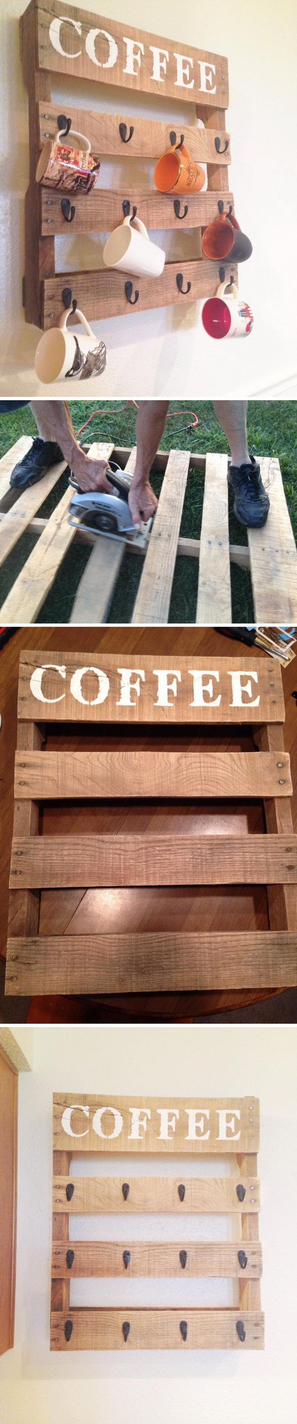 Coffee Mug Rack.