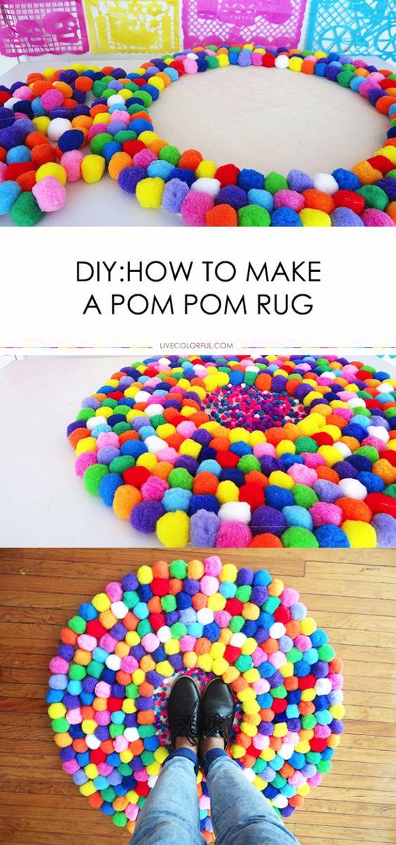 DIY Pom Pom Rug.