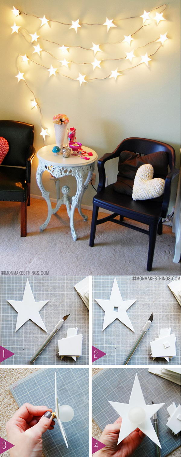 DIY Star Garland Christmas Light .