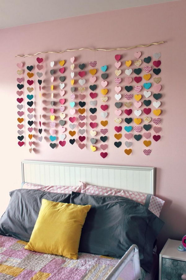 Paper Heart Wall Art.