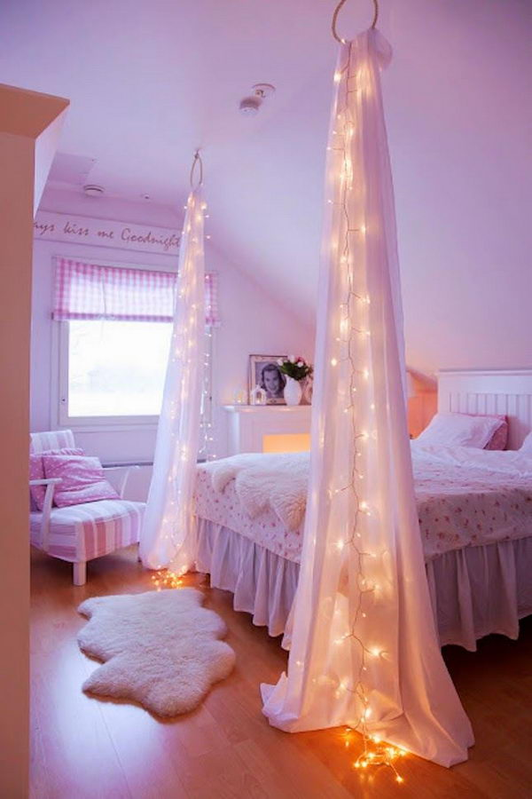 Lighted Bed Canopy with a Twist.
