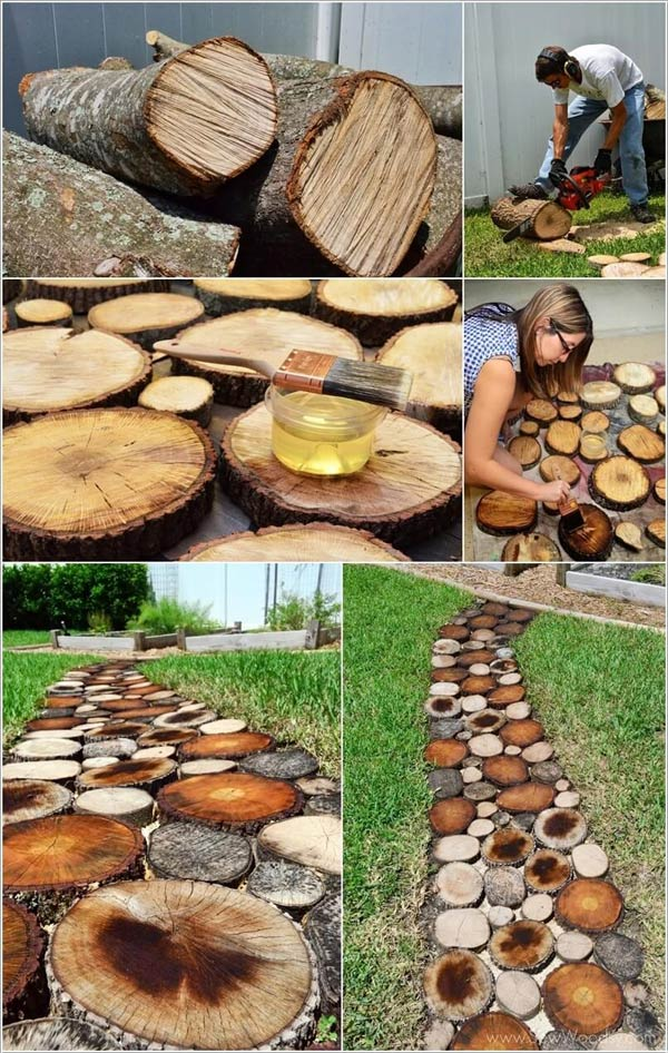 Build a Tree Log Slice Walkway.