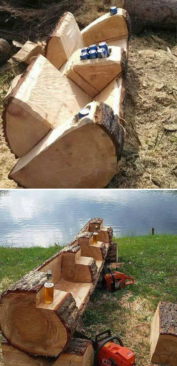 Fallen Tree Log Couch.