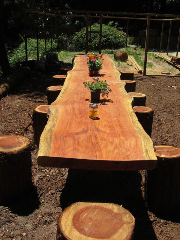 Dining Table from a Fallen Tree.