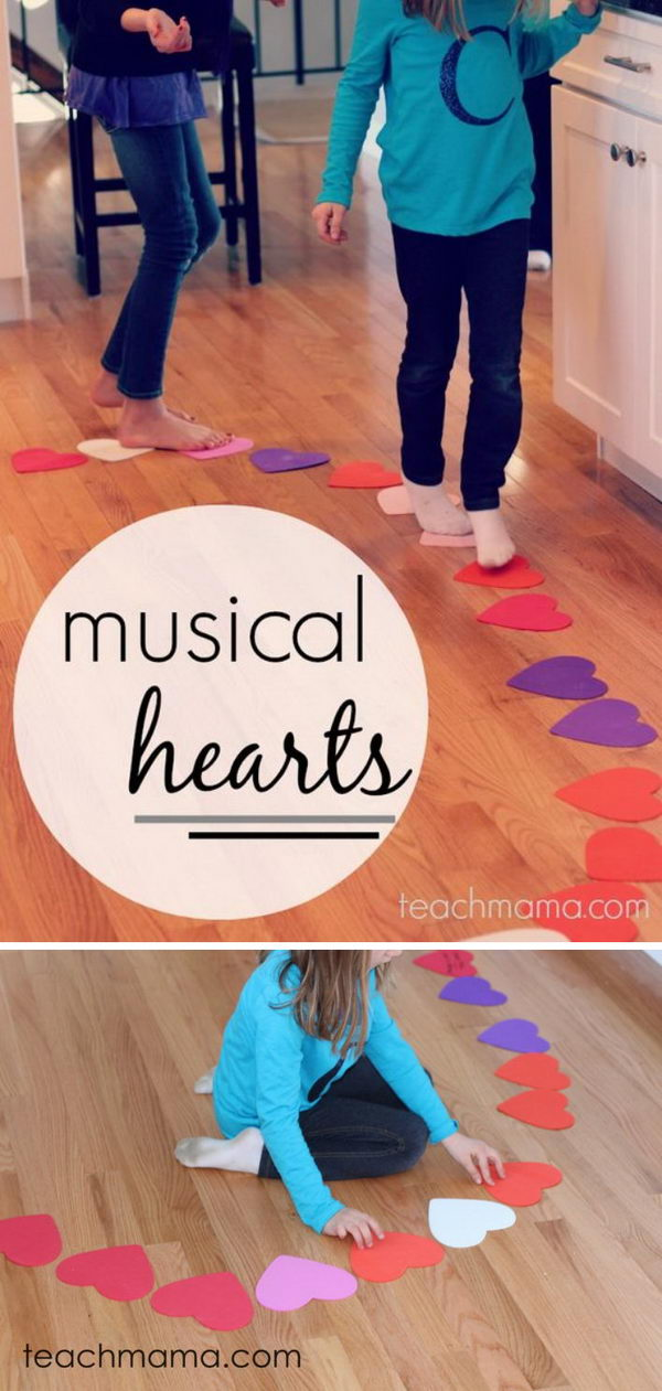 Musical Hearts Reading, Moving, & Crazy Fun Kid Game.