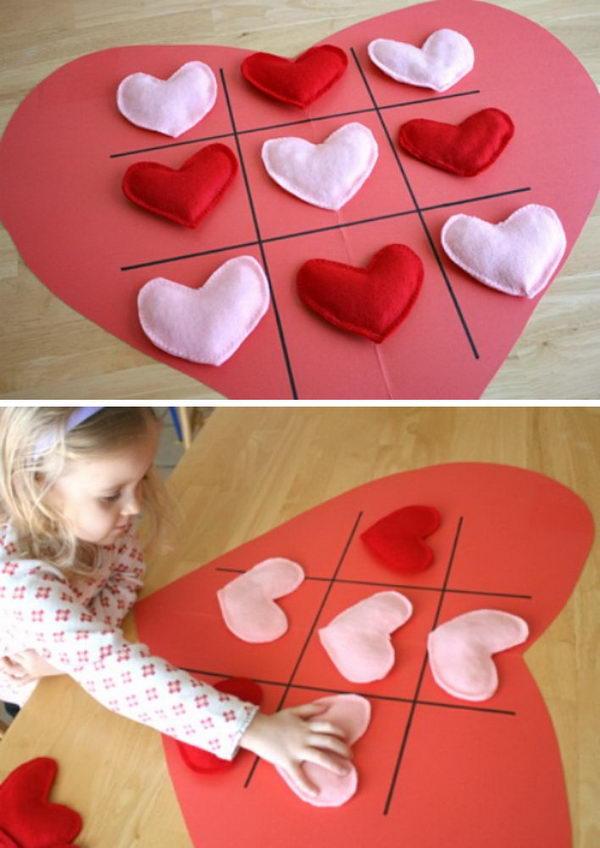 Valentine Tic Tac Toe Game.