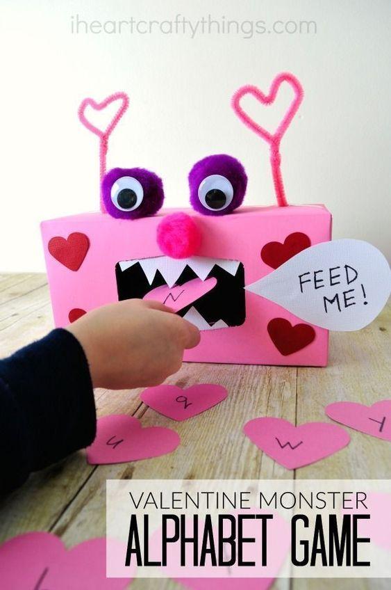 Valentine Monster Alphabet Game.