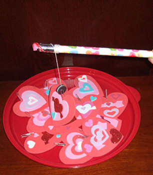 Magnetic Heart or Love Bug Fishing Game.