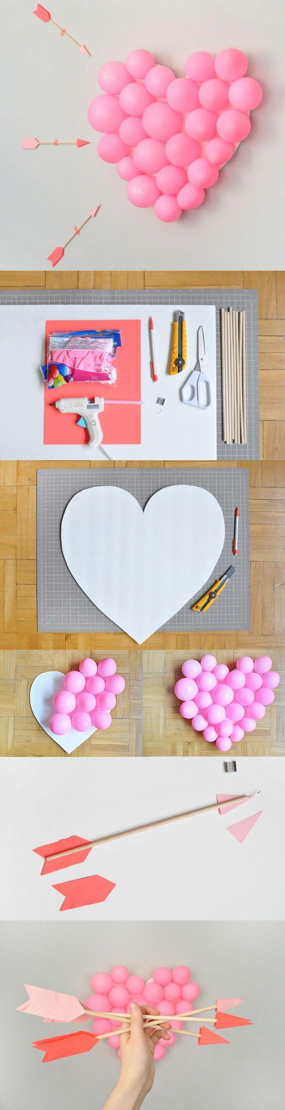 Valentine's Day DIY Balloon Pop.