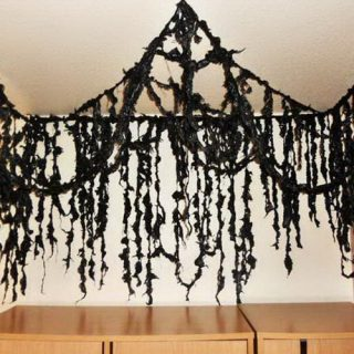 20 Creepy Halloween Decorations Recycled From Trash Bags