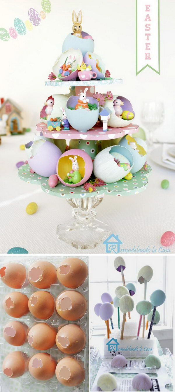 Easter Egg Tree Centerpiece.
