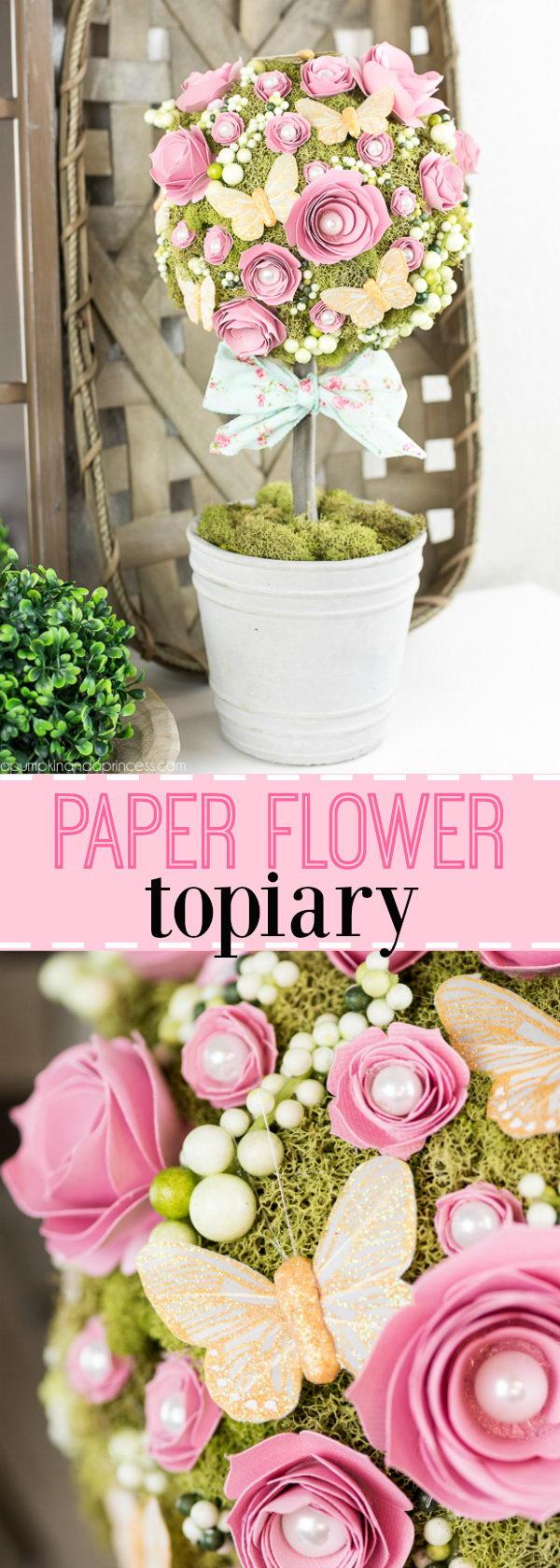 DIY Flower Topiary.