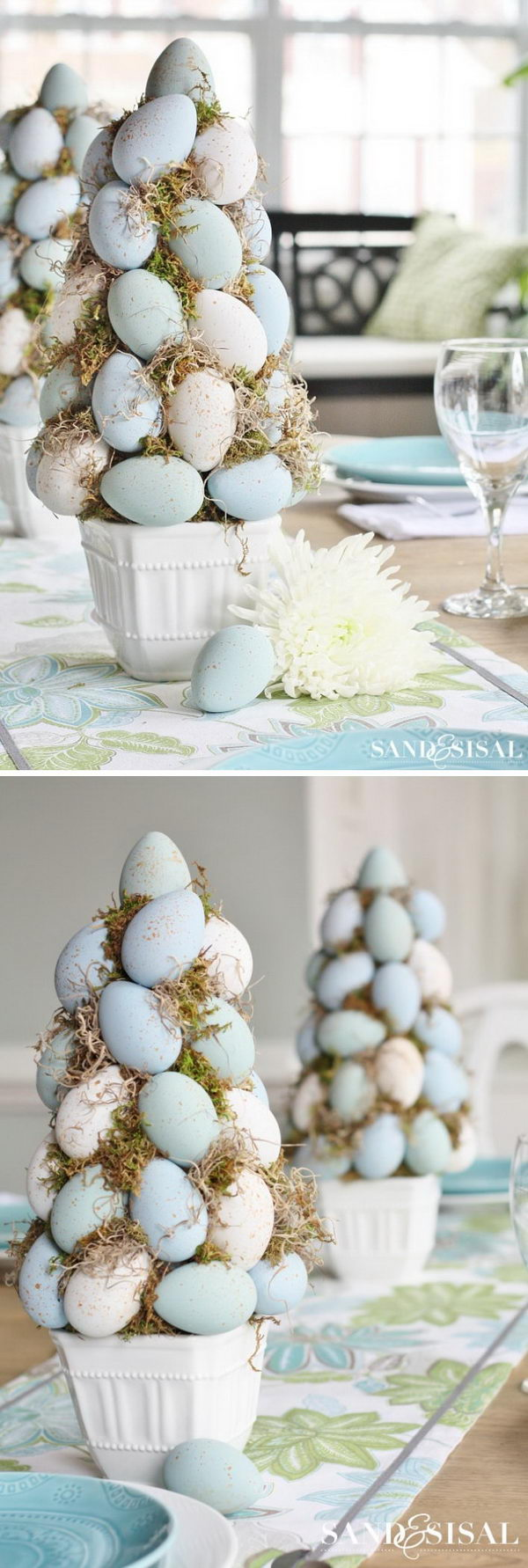 DIY Easter Egg Topiary Tree.