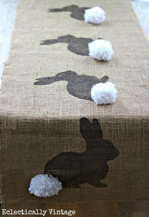 Burlap Bunny Table Runner.