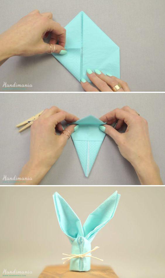 Easter bunny napkins.