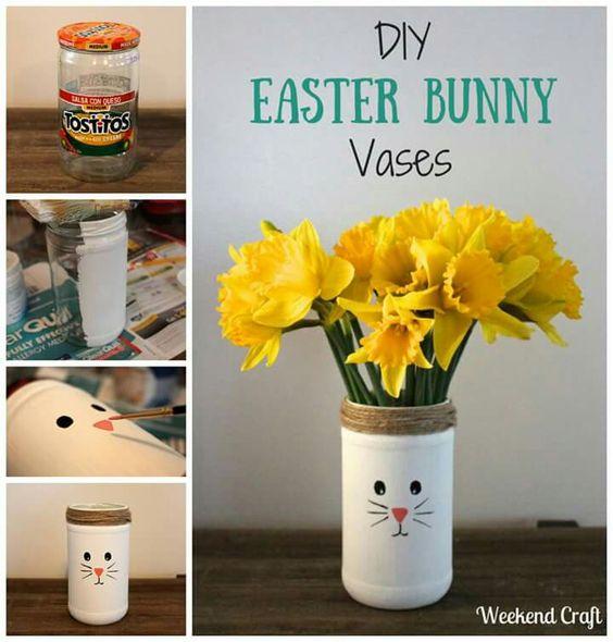 Easter bunny vase.