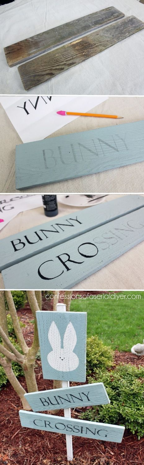 Bunny crossing sign.