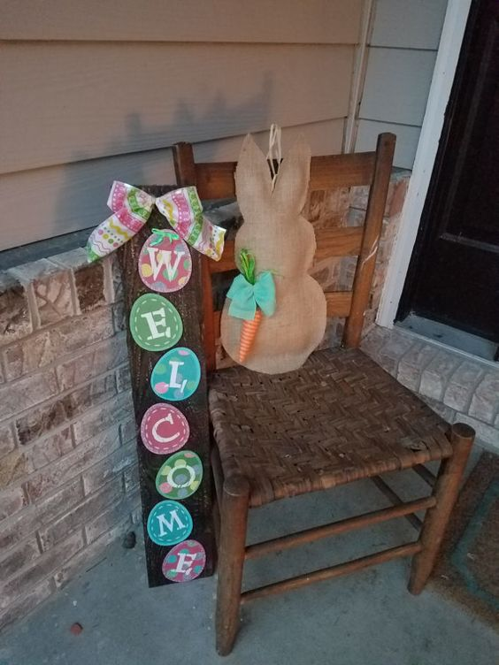 Easter porch decoration.