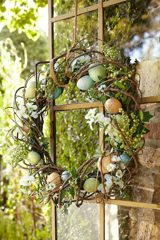 Plant themed wreath.