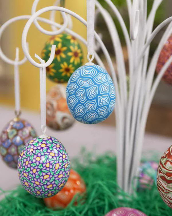 Polymer Clay Easter Eggs.