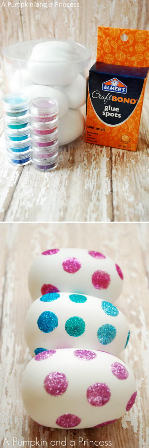 Make Glittery Easter Eggs.
