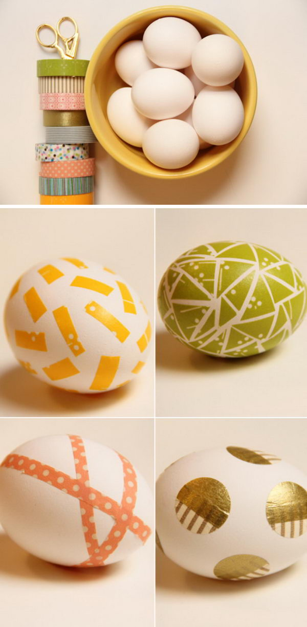 Washi Tape Easter Eggs.