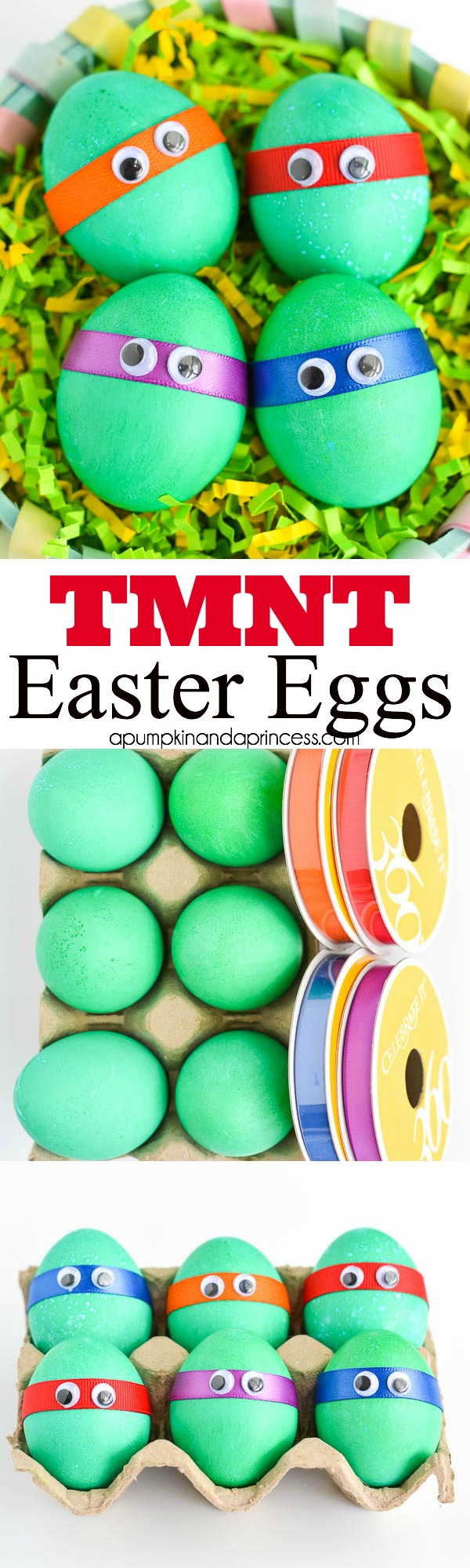 Dyed Ninja Turtles Easter Eggs.