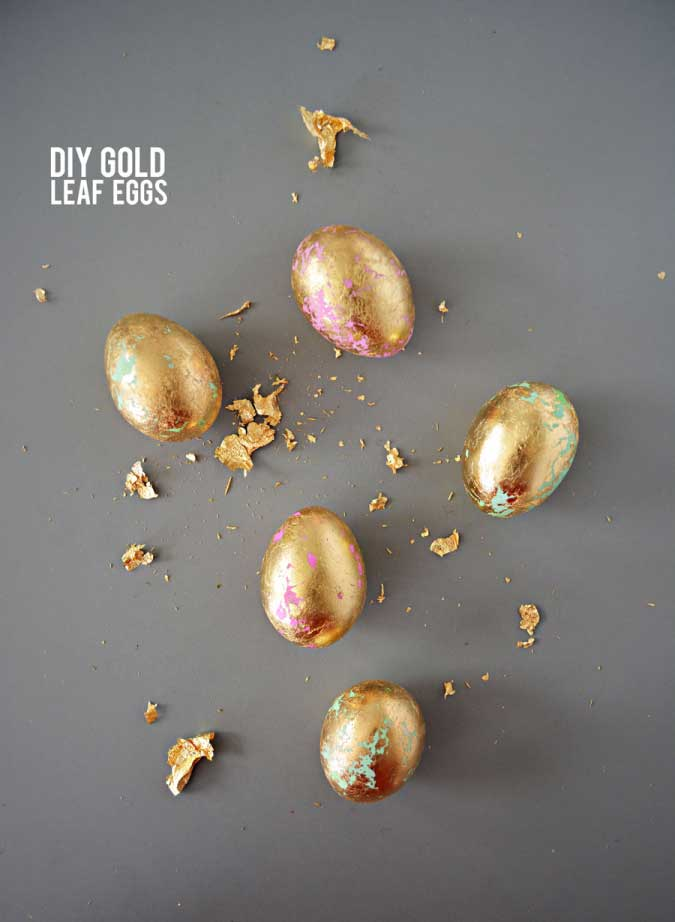 DIY Gold Leaf Eggs.