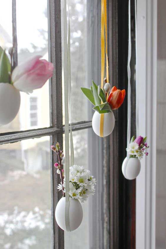 DIY hanging Easter posies.