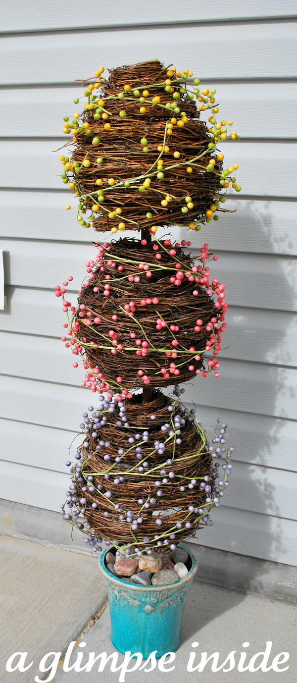 Grape Vine Egg Topiary.