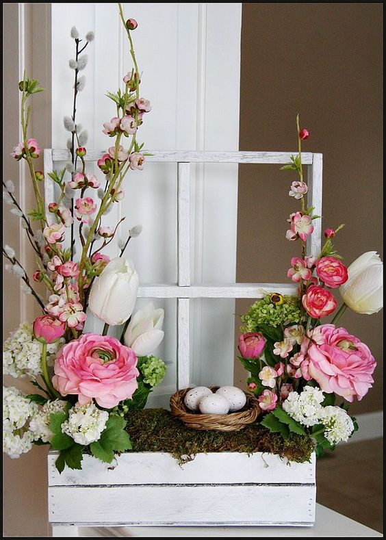 Window Box Floral Arrangement.