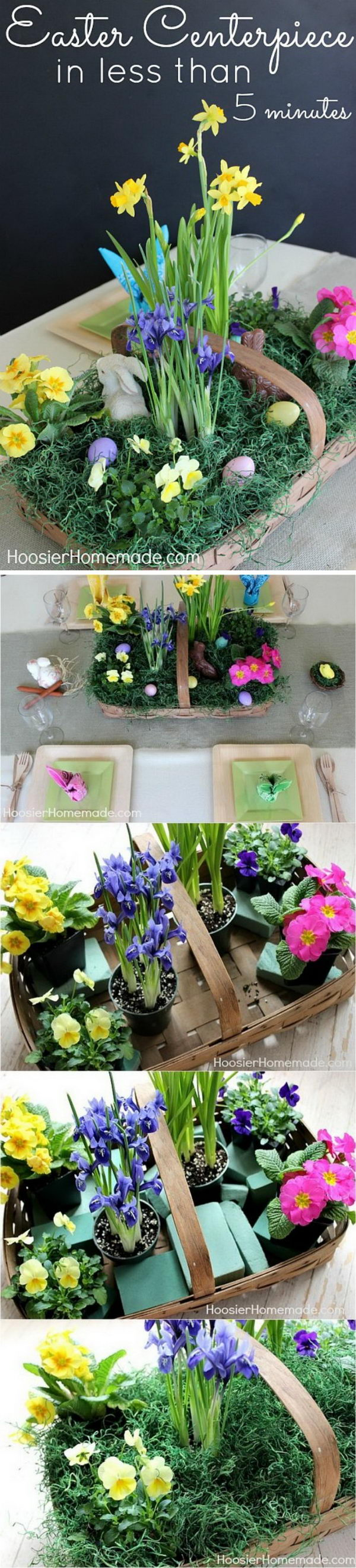 Floral Easter Basket Centerpiece.