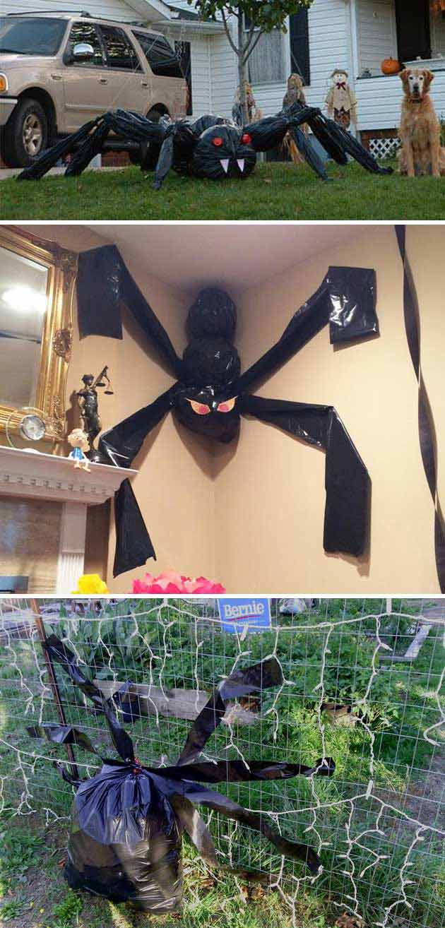 20 Creepy Halloween Decorations Recycled From Trash Bags 2017
