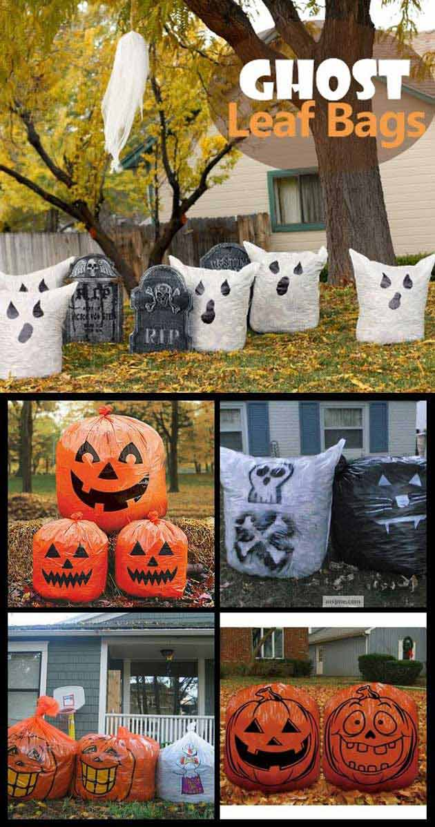 Fully Stuffed Bags can Make some Fun Looking Ghosts Scattered Throughout the Yard.
